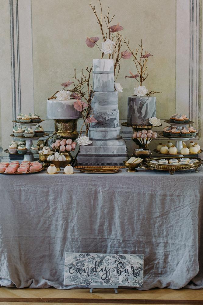 Hochzeitstorte und Candybar by Grant Tortendesign